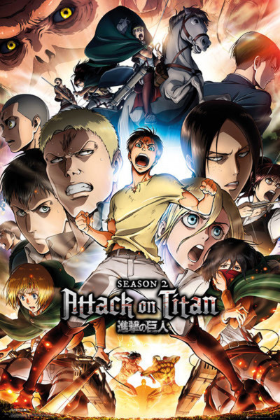 Poster: C08 Attack on Titan 2 Collage Keyart