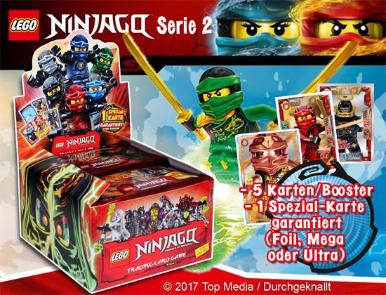 LEGO NINJAGO - Sammelkarten Serie 2 - 1 Booster (5 Karten)