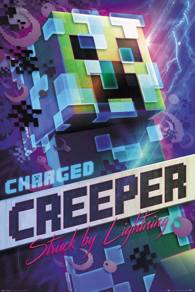 Poster: C01 Minecraft Charged Creeper