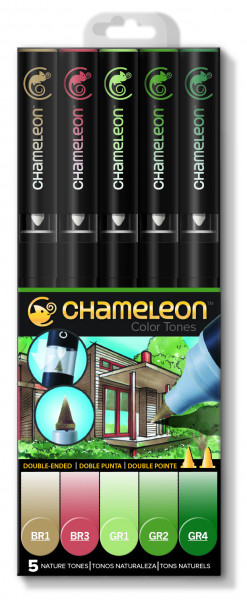 Chameleon Marker Set 5 Pen Nature Tones